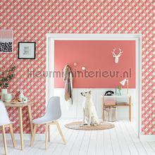 3d diagonaal raster behang Caselio tieners