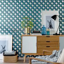 3d diagonaal raster behang spa100126062 Interieurvoorbeelden behang Caselio