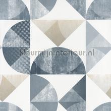 Halve ruiten en cirkels behang spa100156064 Interieurvoorbeelden behang Caselio