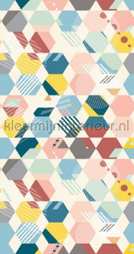 Hexagon stapeling behang spa100174568 Interieurvoorbeelden behang Caselio