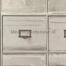 Ladenkast warm grijs tapet Hookedonwalls Splendour SD3903