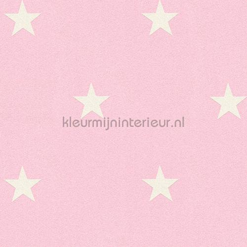 Glitter sterren roze wit behang 35991-2 AS Creation