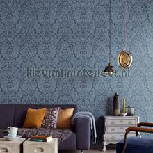 Ornament op betonlook wallcovering Eijffinger Vintage- Old wallpaper