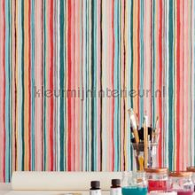 Multicolor streepjes behang Eijffinger strepen