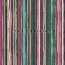 Aquagroen en roze streepjes behang Eijffinger strepen