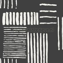 Blokmotief uit strepen tapet Eijffinger Stripes Plus 377133