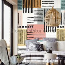 Painted patchwork XL fotobehang Eijffinger Grafisch Abstract