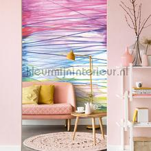 Aqualines summer fotobehang Eijffinger Grafisch Abstract