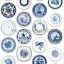 Porselein blauw fototapet Studio Ditte verdenskort