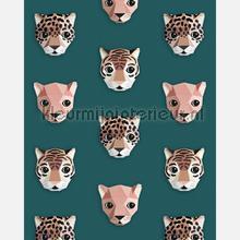 Panthera groen behang Studio Ditte jongens