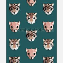 Panthera groen papel de parede Studio Ditte Wallpaper creations