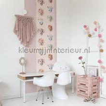 Wilde dieren roze papel pintado Studio Ditte papel pintado Top 15