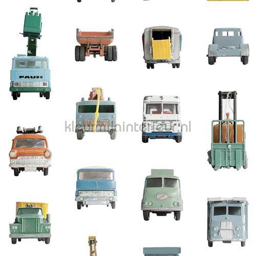 Kinderbehang Met Autos.Werkauto Werkauto Wallcovering Studio Ditte Studio Ditte