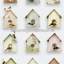 Vogelhuisjes behang Studio Ditte meisjes