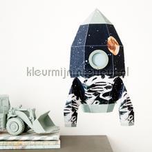 Raket maan large interieurstickers Studio Ditte jongens