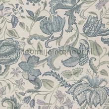 Indiaas bloemendessin wallcovering Eijffinger Sundari 375100