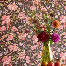 Indiaas bloemendessin wallcovering Eijffinger Sundari 375104