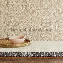 Geraffineerd houtsnijwerk wallcovering Eijffinger Sundari 375131