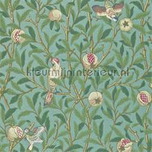bird and pomegranate turquoise coral tapeten Morris and Co The Craftsman Wallpapers 216453
