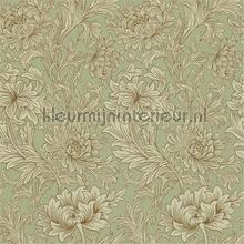 chrsyanthemum toile eggshell gold tapeten Morris and Co The Craftsman Wallpapers 216458