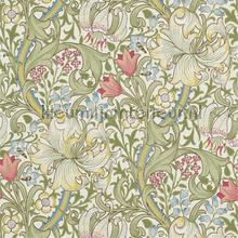 golden lily green red tapeten Morris and Co The Craftsman Wallpapers 216460