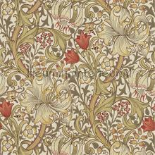 golden lily biscuit brick tapeten Morris and Co The Craftsman Wallpapers 216462