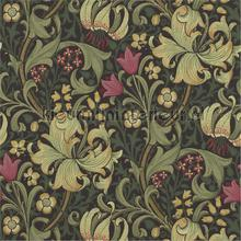 golden lily charcoal olive tapeten Morris and Co The Craftsman Wallpapers 216463