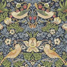 stawberry thief indigo mineral tapeten Morris and Co The Craftsman Wallpapers 216476