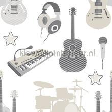 Muziekinstrumenten behang Behang Expresse jongens