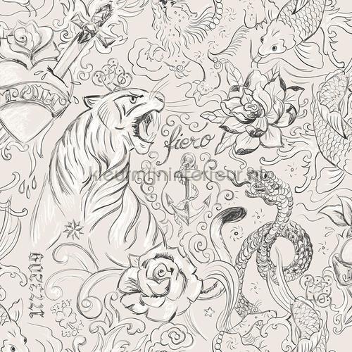 Tatoeage prints behang 27152 Thomas Behang Expresse