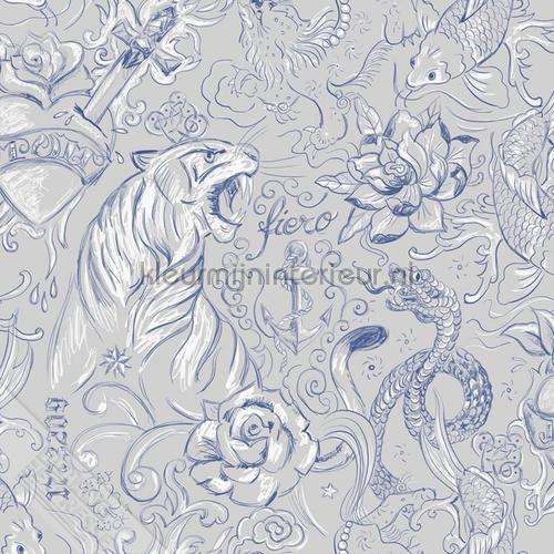Tatoeage prints tapet 27155 Thomas Behang Expresse