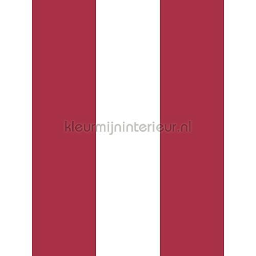 Streep rood ecru 13 cm tapet 27160 Thomas Behang Expresse