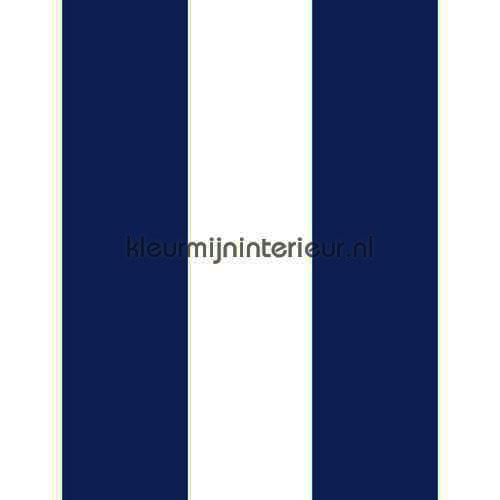 Streep blauw ecru 13 cm tapet 27161 Thomas Behang Expresse