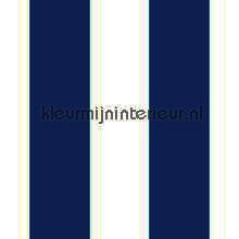 Streep blauw ecru 13 cm behang Behang Expresse jongens