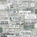 Nummerplaten collage Thomas behang expresse