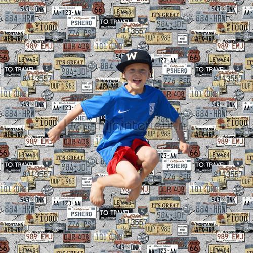 Nummerplaten collage tapet th27116 Thomas Behang Expresse