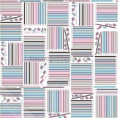 Gekleurde potloodjes tapet we66233 Thomas Behang Expresse