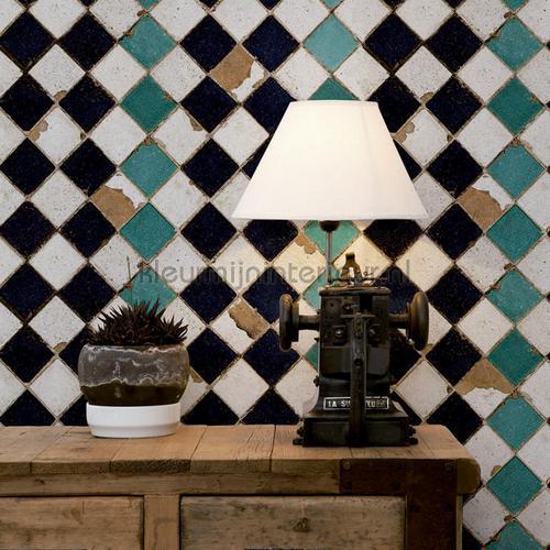 tourquoise chess tapet 3000003 Tiles Coordonne