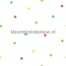 Overal gekleurde puntjes behang Noordwand Baby Peuter