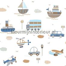 Vliegen varen en rijden behang Noordwand Baby Peuter
