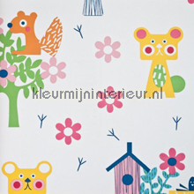 Animaux de la forêt colora behang Eijffinger Tout Petit 354032