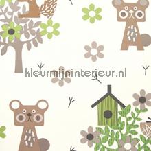 Animaux de la forêt behang Eijffinger Tout Petit 354033