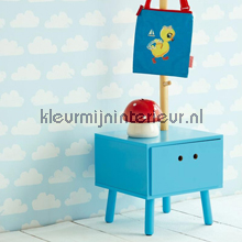 Nuanges blue et blanc behang Eijffinger Tout Petit 354070