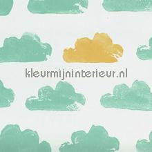 Nuanges blanc et vertblue behang Eijffinger Tout Petit 354072