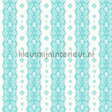 Dentelle stripe aqua papier peint Room Seven Travel Memories 2200301