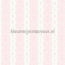Dentelle stripe pink papier peint Room Seven Travel Memories 2200304