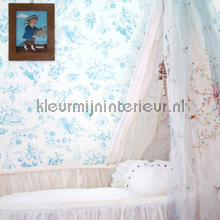 Jouy pale blue papier peint Room Seven Travel Memories 2200505