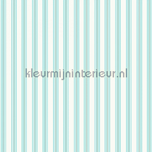Pin stripe aqua papier peint Room Seven Travel Memories 2200801