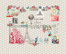 Paris je taime beige papier peint Room Seven Travel Memories 2200110