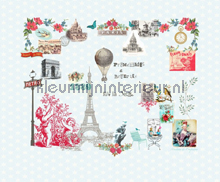 Paris je taime blue papier peint Room Seven Travel Memories 2200111